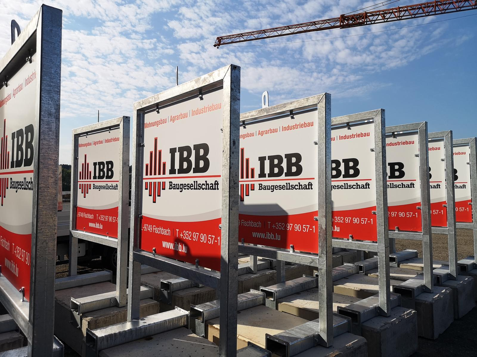 IBB construction site signs