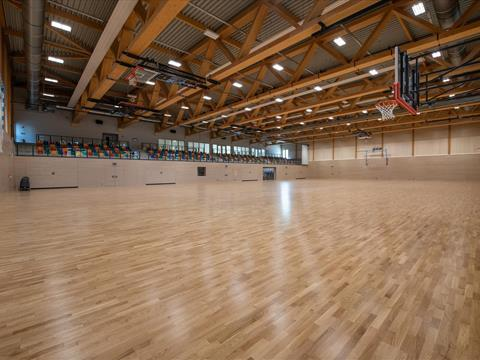 Sports hall, Niederkorn - Large hall area of the sports hall