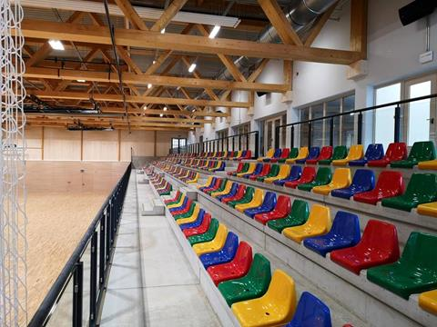 Sports hall, Niederkorn - Public gallery with space for 300 people