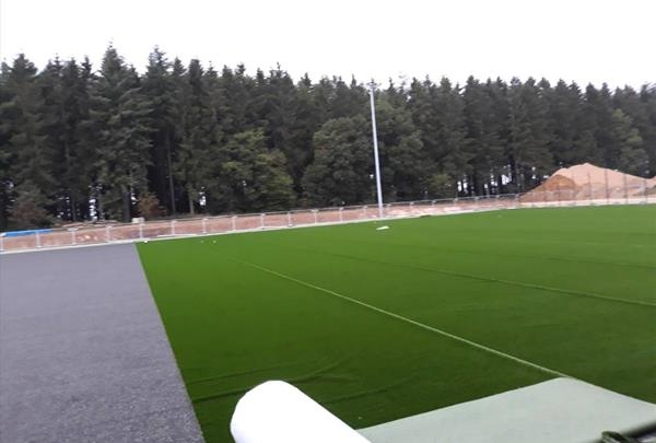Artificial pitch - laying of lawn surface